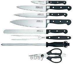 Authentique! Avanti Perfekt 9 Pièces Couteau Couverts Bloc Set German Steel! Prix public 249 $