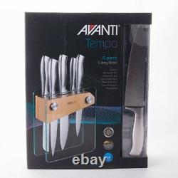 Authentique! Avanti Tempo 6 Pièces Couteau Couverts Bloc Set German Steel! Prix public 399,00 $