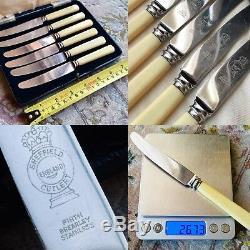 Beurre Antique Firth Brearley Couteau En Acier Inoxydable Avec Une Poignée D'os Bovin