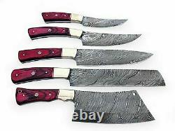 Blade De Damascus Douanier 5 Pcs. Chef/kitchen Knives Set
