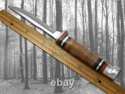 Boîtier XX Twin Finn Fixed Blade Hunter 2 Knife Set Polished Leather & Sheath 00372