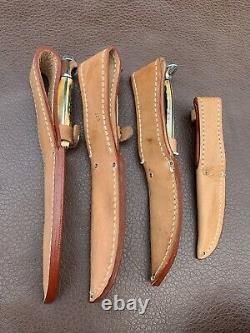 Cas XX Blue Scroll 1977 Stag Lame Fixe Complet 4 Set De Couteau W Gaines Chasse