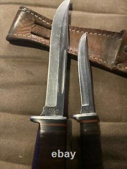 Cas XX USA 316-5 Testé XX Razor Edge Jeu De Couteau De Chasse À La Lame Twin Flinn 1982