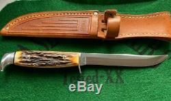 Case XX Rouleau Bleu Fixe Lame 4 Couteau Fixé 1977 Une Grande Plume En Jeu Vraiment Propre Cerf