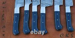 Chef Ensemble De Couteaux Couteaux De Cuisine Custom Set & Main Damas Acier Couteaux Tranchants