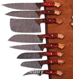 Chef Set Lot De 8 Sur Mesure Plein Tang Damas Acier, Couteaux De Cuisine
