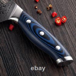 Couteau Couteau Chef Santoku Boning Utilitaire Couteaux Acier Damas Japonais 67 Couches 4