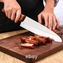 Couteau De Chef De Luxe 2 Piece En Acier Inoxydable 8 Couteau De Chef Avec Boîtier De 5+8 Pouces