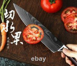 Couteau De Chef Japonais Ensemble Lames En Acier Inoxydable