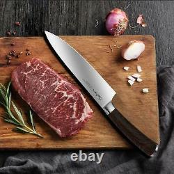 Couteau De Chef Pro Alleman Carbon Acier 8 Couteau De Chef 8 Pouces Forged High Carbon