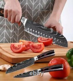 Couteau De Cuisine Couteau En Acier Inoxydable Damas Modèle Sharp Cleaver Cadeau
