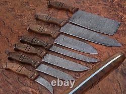 Couteau De Cuisine Professionnel En Acier De Damas Fabriqué Sur Mesure-db-1007-7
