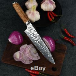 Couteau De Cuisine Set Damas Japonais Vg10 Acier 8 ' ' Couteau De Chef Couteau Santoku 5pcs