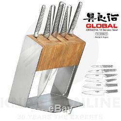 Couteau De Global Katana En Acier Inoxydable Bloc Set Couteaux Japonais Chef Cuisinier