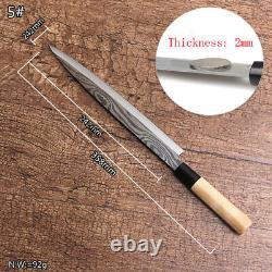 Couteau Ensemble Couteaux De Cuisine En Acier Chef Sashimi Cleaver Sliding Deba Zebra Pattern