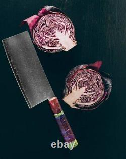 Couteau Japonais Set Chef Cleaver Damascus Steel 67 Couches Main Poignée En Bois
