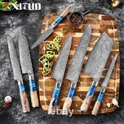 Couteaux De Cuisine En Acier Damas Vg10 Couteau De Chef Couteau De Parage Couteau Blu