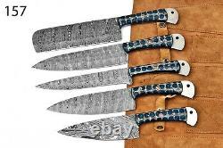 Couteaux De Cuisine En Acier Damascus Forgés À La Main Faits À La Main Sur Mesure -157