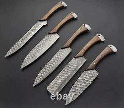 Couteaux De Cuisine En Acier Damascus Forgés À La Main Sur Mesure -pro12