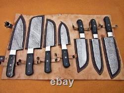 Couteaux De Cuisine En Acier De Damas Faits À La Main Couteaux De Cuisine Sur Mesure Ensemble Professionnel De 7 Couteaux