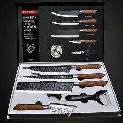 Couteaux De Cuisine En Acier Inoxydable Ensemble Outils Forged Kitchen Knife Ciseaux Céramique