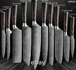 Couteaux De Cuisine Ensemble Outil En Acier Inoxydable Chef Knife Sharp Professional Free Ship