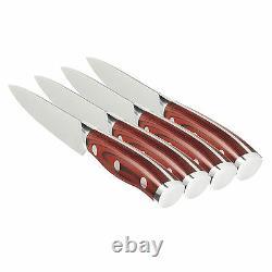 Crimson Série 4pc. Couteau Steak German Steel Et G10 Poignées Ergo Chef