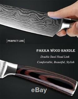 Cuisines Ensemble De Couteaux En Acier Inoxydable Damas Modèle De Sharp Cleaver Cadeau
