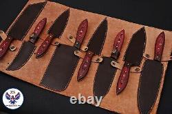 Custom Handmade Damascus Steel Chef Knife Kitchen Set Zs 47