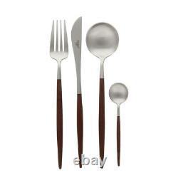 Cutipol Goa Set Matte Brown Flatware 24 Pcs Dinner Cutlery Set Acier Inoxydable