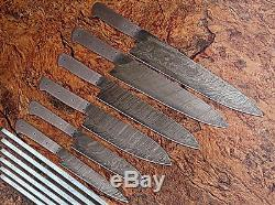 DD / 071-bl Personnalisé Fait Main Damas Blank Lame 6 Pièces Cuisine / Chef Set Couteau