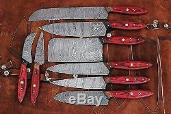 Damas Couteau De Cuisine En Acier 8pc Ensemble Cuir Sac, Pd-1046-8 Rasoir Tranchant