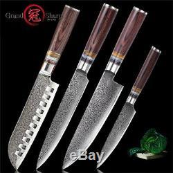Damas Couteau De Cuisine Set 4 Pièces En Acier Japonais Damas Couteaux De Cuisine Chef De New