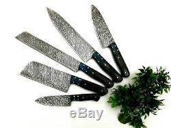 Damas Fait À La Main En Acier Couteau De Cuisine Set 167 Couches Tang Pleine Avec Sac En Cuir