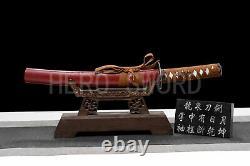 Damas Plié Acier Japonais Katana Set 3 Samouraï Swords Real Couteaux De Combat