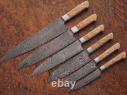 Damascus Blade Kitchen Couteau 06 Oc's Set, 1071-ch
