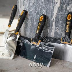 Dewalt Taping Knife Set Premium Blue Steel 6-8-10-12 Avec 16 Heli-arc Mud Pan