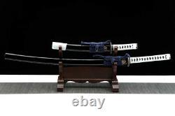 Ensemble D'épées Samurai Japonais À Haute Teneur En Carbone De Tang Complet Katana+tanto Sharp Couteau
