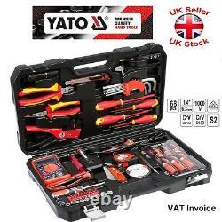 Ensemble D'outils Yato Pour Électriciens 68 Pcs 1000v S2 Crv6150 Acier Yt-39009