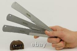 Ensemble De 3 Couteaux De Lancer Russes Vyatich (420 Steel) Kizlyar Supreme