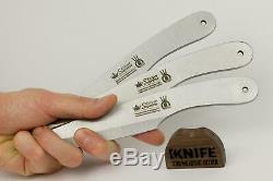 Ensemble De 3 Couteaux Throwing Russe Osetr (420 Steel) Kizlyar Suprême