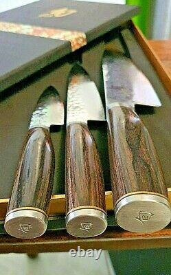 Ensemble De Couteau 3 Pièces Shun Premier Tdms300 Brand New In Box Japan Kitchen Knives