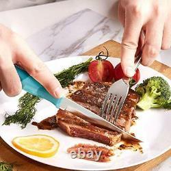 Ensemble De Couteau De Cuisine Emojoy 15pcs Avec Bloc En Bois Acier Inoxydable Allemand