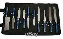 Ensemble De Couteaux 10 Cuisines Damas Couteaux En Acier De Sharp Couteau Couperet Cadeau