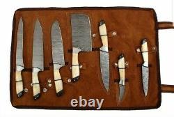 Est Custom Fait Main Damas Chef / Kitchen Knives Blade Lot De 7'pcs Set-1026-bh