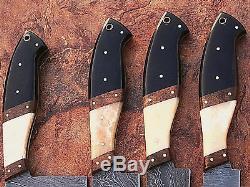 Est Fait Sur Mesure Damas Blade 4pcs. Couteaux Chef / Cuisine Set DC 1010-4