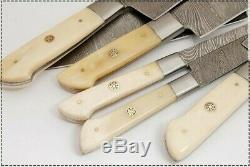 Est Personnalisée À La Main De Damas En Acier Belle 6pcs. Couteaux De Cuisine Set-071-bone