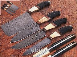 Eye Catching Custom Made Damascus Blade 4pcs. Chef/couteaux De Cuisine Ensemble Db 1010