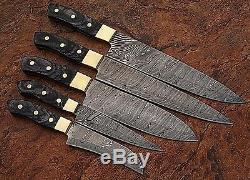 Fait Sur Mesure Damas Blade 5pcs. Couteaux Chef / Cuisine Set Dc-1031