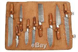 Fait Sur Mesure Damas Blade 9pcs. Chef / Cuisine Couteaux Set M-h-021-chenaar